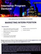 Marketing intern position